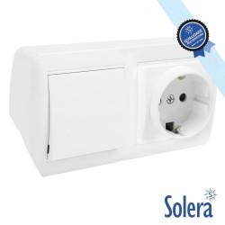 Interruptor e Tomada de Parede 10A 250V - SOLERA