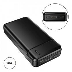 Bateria Power Bank Micro Usb / Usb-C / 2x Usb-A 20000mA