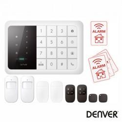 Alarme C/ Sensor Pir Cartão Gsm 850/900/1800 /1900mhz - DENVER