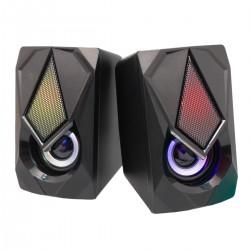 Colunas Pc Amplificadas Gaming 2x 3W Usb 2.0 Jack 3.5mm - Mailin
