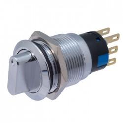 Interruptor Rotativo 6 Pinos, 3 Posições 12/220v Redondo Metal