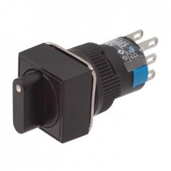 Interruptor Rotativo 6 Pinos, 3 Posições 12/220v Quadrado