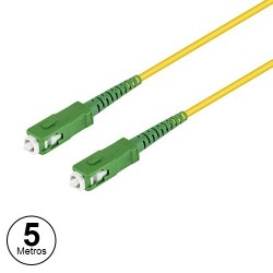 Cabo Fibra Optica SC-SC Monomodo (9/125µ) ≤0.3dB 5mt - Amarelo