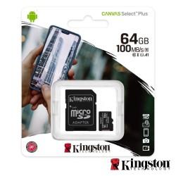 Cartão Memoria Micro SdHc 64Gb C/ Adaptador SD - Kingston