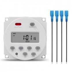 Programador Horário Digital (Timer) 12VDc C/ Saída Relé 250VAc 16A