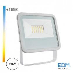 Projector Led 30w 220-240v Ip65 6400k 2100lm - EDM