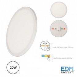 Downlight LED 220-240v 20w 1200lm Tamanho e Tipo de Luz Regulavel - EDM