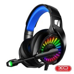 Auscultadores Gaming C/ Fios RGB Preto - XO