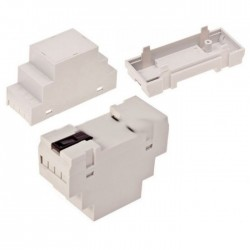 Caixa De Montagem P/Calha DIN 90x35x65mm Plastico (2Mód)