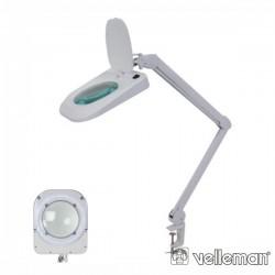 Candeeiro C/ Lupa Bancada 5 Dioptrias 60 LEDS 10W VELLEMAN
