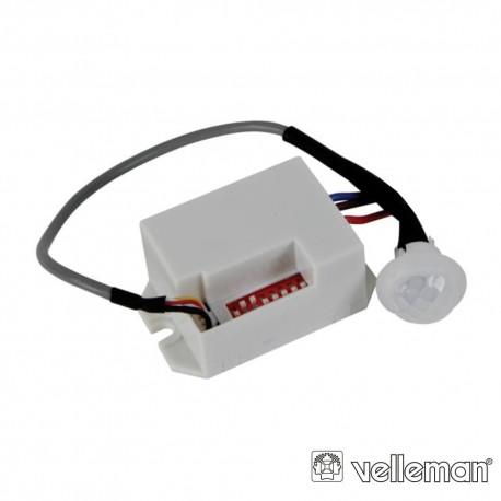 Sensor Movimento PIR Mini 12vDc Interior P/ Embutir - Velleman