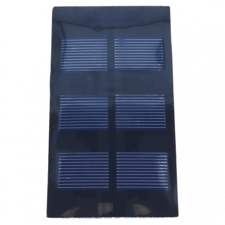 Painel microsolar 1.5V 350mA 0.53W 62x120mm - Xunzel