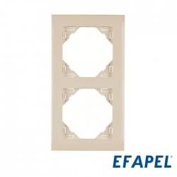 Espelho Tomada Duplo Marfim – Efapel