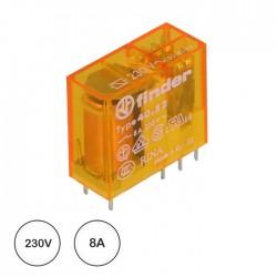 Relé 230VAC 8A DPDT (8 pinos) - Finder