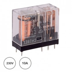 Relé 230VAC 10A DPDT (8 pinos) - Omron