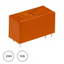 Relé 230VAC 12A SPDT (5 pinos) - TE Connectivity RT214730