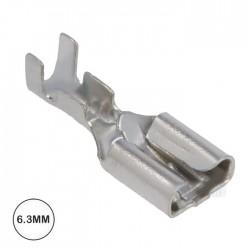 Terminal Faston Femea 6.3mm Não Isolado C/ Patilha (1-2.5mm) Metal
