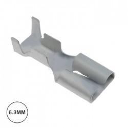 Terminal Faston Femea 6.3mm Não Isolado C/ Patilha (2-3.5mm)