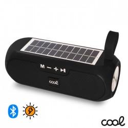 Coluna Bluetooth Portátil 10w USB/AUX/FM/BAT C/ Painel Solar- COOL
