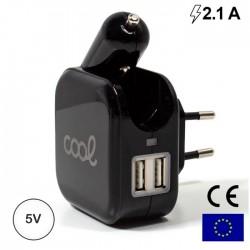 Carregador Universal C/ 2x USB + Fciha Isqueiro 5v 2.1A - COOL
