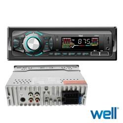 Auto Radio 4x40w C/ Usb/Bluetooth/Slot SD - WELL
