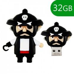 Pen USB 32GB Silicone Pirata - COOL