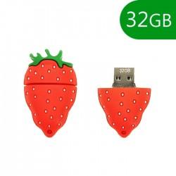 Pen USB 32GB Silicone Morango - COOL