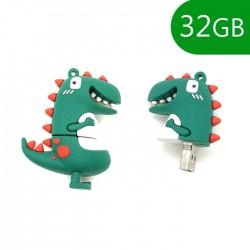 Pen USB 32GB Silicone Dinossauro - COOL