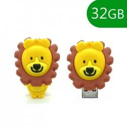 Pen USB 32GB Silicone Leão - COOL