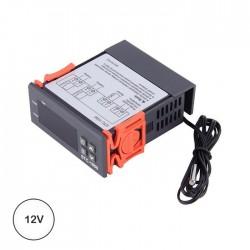Termostato Digital 12v C/ Controlador de Temperatura Sensor NTC