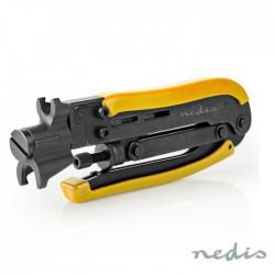 Alicate Cravar Fichas Compressão RG59 / RG6 / RG7 / RG11 (Ajustável) - NEDIS