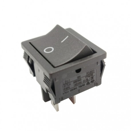 Interruptor Basculante Bipolar 6A-250v DPST 4 Terminais OFF-(ON)