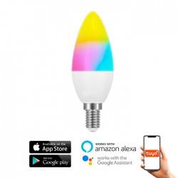Lâmpada LED E14 16w C37 RGB+CCT WIFI SmartHome 600lm IP20