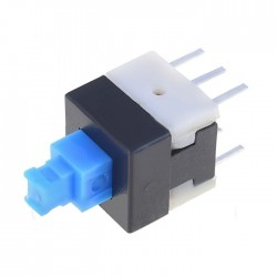 Botão interruptor miniatura 8x8x(12)mm DPDT 2 posições estáveis ON-ON 30VDC 0.1A
