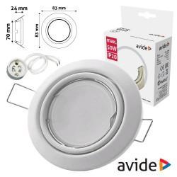 Aro Redondo Ajustável Cónico Branco P/ MR16-GU10 - AVIDE