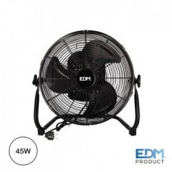 Ventilador de Chão Industrial 35CM 45W Preto - EDM