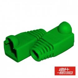 Capa P/ Ficha RJ45 Plastica - Verde