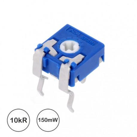 Potenciómetro de ajuste 10K 0.1W mini horizontal