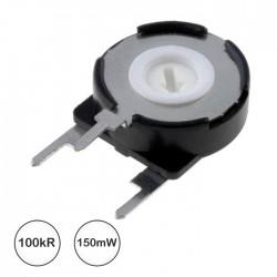 Potenciómetro de Ajuste Mini 100K 0.15W Vertical