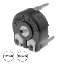 Potenciómetro de Ajuste Mini 220K 0.15W Horizontal