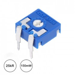 Potençiometro Ajuste Mini 25kR 0.15w