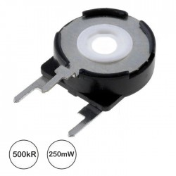 Potenciómetro de Ajuste Medio 500kΩ 0.25W