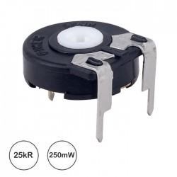 Potenciómetro de Ajuste Medio 25kΩ 0.25W