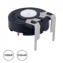 Potenciómetro de Ajuste Medio 100kΩ 0.25W Horizontal