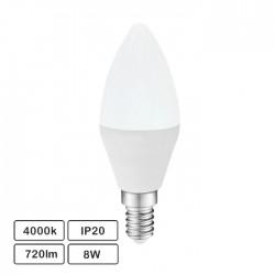 Lâmpada LED E14 C37 230V 8W 4000K 720lm