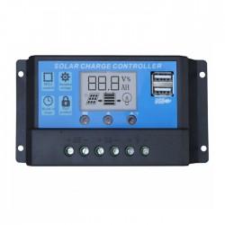 Regulador De Tensão Painel Solar 12/24VDC 50 Amp 2 x USB