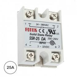 Relé 3-32VDC Interruptor Unipolar 25A/60V Sólido