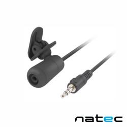 Microfone Lapela Omnidirecional Jack 3.5mm Preto - Natec