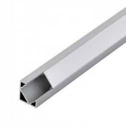 Perfil Alumínio P/ Fita LEDs 27x13mm de Canto - 2Mt