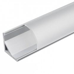 Perfil de Alumínio P/ Fita LEDs 27x13mm de Canto - 2Mt
